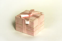 Pink box gift. Packing decorative box, gifts for the holidays Stock Images