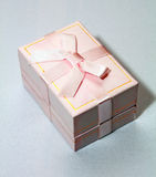 Pink box for gifts Stock Images