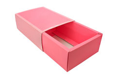 Pink box on isolated white Stock Photography