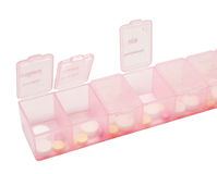 Pink box of medicine Royalty Free Stock Photos