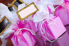 Pink box party favours Stock Photography