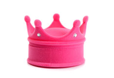 Pink box in the shape of a crown Stock Images