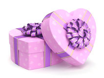 Pink boxes heart Royalty Free Stock Image