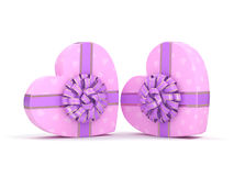 Pink boxes heart Royalty Free Stock Photo