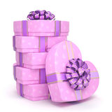 Pink boxes heart Royalty Free Stock Images
