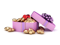 Pink boxes heart Stock Photo