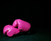 Pink boxing gloves Stock Photo