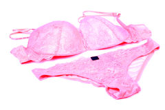 Pink bra and panty Royalty Free Stock Photography
