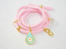 A pink bracelet Stock Photos