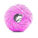 Pink braided skein, sewing yarn roll isolated on white background Stock Photos