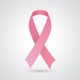 Pink breast cancer awareness ribbon Royalty Free Stock Photo