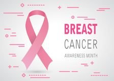 Breast cancer awareness tape icon Stock Images