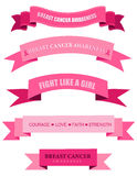 Pink breast cancer awareness web banners Royalty Free Stock Image