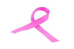 Pink breast cancer ribbon Stock Photo