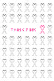 Pink breast cancer ribbon Stock Image