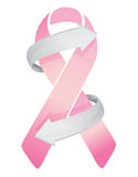 Pink Breast Cancer Ribbon on the move Royalty Free Stock Photography