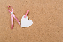 Pink breast cancer ribbon . Space for text Stock Image