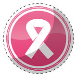 Pink breast cancer ribon signal. Design icon Stock Photos