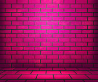 Pink Brick Stage Background Stock Photos