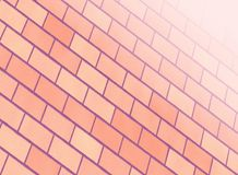 Pink brick wall Stock Photo