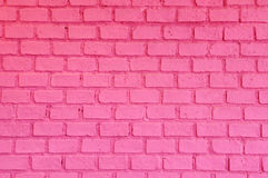 Pink brick wall Stock Images