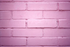 Pink brick wall Royalty Free Stock Images
