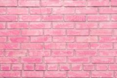 Pink brick wall background. Rose texture facade, bright colored. Pink brick wall background. Rose texture facade, bright colored pastel background royalty free stock photography