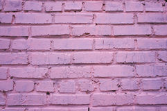 Pink brick wall Royalty Free Stock Photography