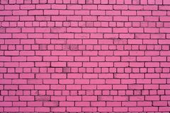 Pastel pink wall. Pink brick wall background texture royalty free stock photo