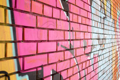 Pink Brick Wall Royalty Free Stock Photos