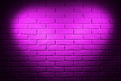 Pink brick wall with heart shape light effect and shadow, abstract background photo Royalty Free Stock Photo