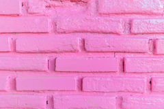 Pink brick wall texture background Stock Image