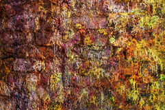 Pink brick wall. Texture of wall from a old red brick with crack Stock Image