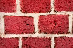 Pink bricked textured Stock Photos