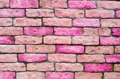 Pink bricks, texture, background for design, horizontal. Abstraction wallpaper. stone royalty free stock image