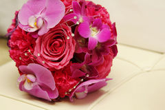 Pink bridal wedding bouquet Stock Images