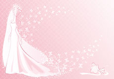 Pink bride Stock Image