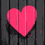 Pink bright heart Royalty Free Stock Images