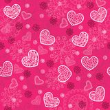 Pink and bright seamless pattern Royalty Free Stock Photography