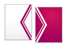 Pink brochure design Abstract Royalty Free Stock Photo