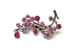 Pink brooch Stock Photo