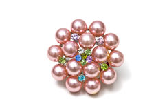 Pink Brooch stock photos