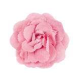 Pink brooch flower isolated on white Stock Images
