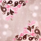 Pink and brown abstract shapes design background Royalty Free Stock Photo