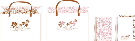 Pink brown bag_1 Stock Images