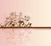 Pink and brown card Stock Image