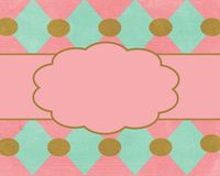 Pink Brown Card Background Template Royalty Free Stock Photo
