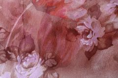 Pink and brown chiffon with floral print. Pink and brown chiffon fabric with floral print Royalty Free Stock Image
