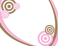 Pink and Brown Circle Frame Stock Image