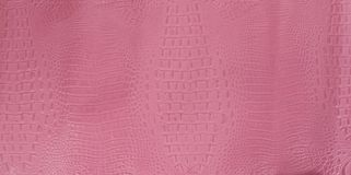 Pink Brown Embossed Gator Leather Texture Stock Images